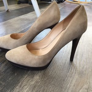 Cole Haan suede nude Nike Air technology pumps